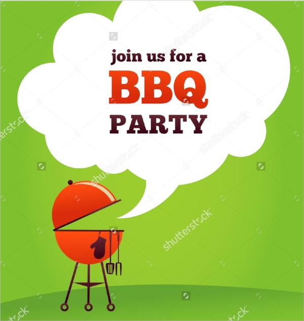 bbq invitation template vector