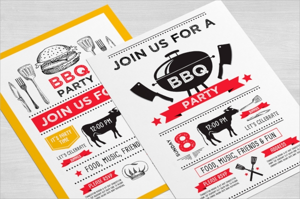 photoshop bbq invitation