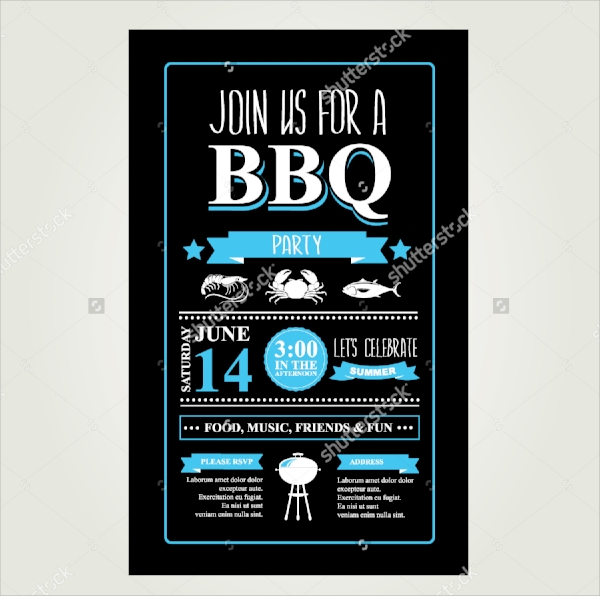bbq invitation design
