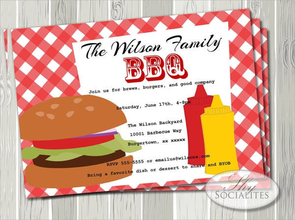 sample bbq invitation