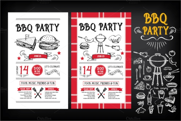 wonderful bbq invitation