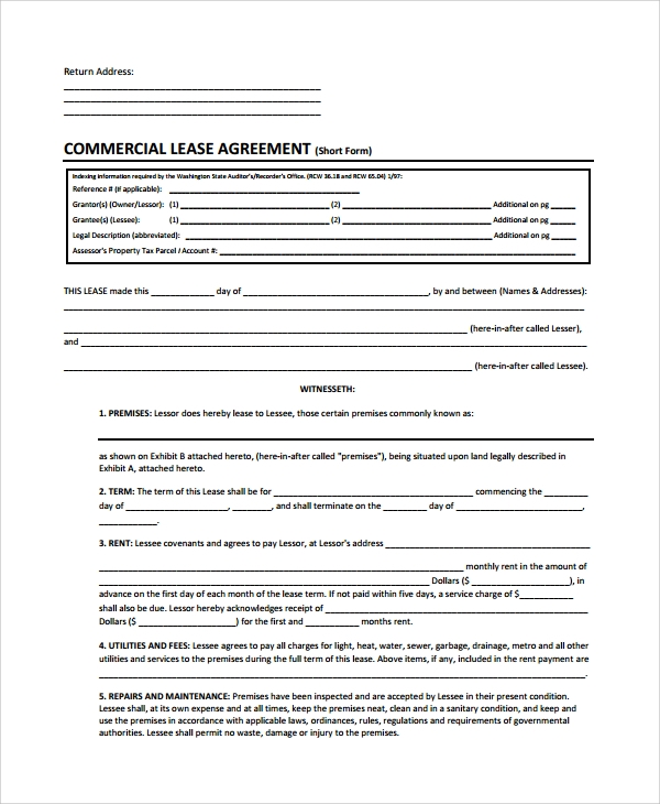 Sample Commercial Lease Termination Agreement 7 Documents in – Commercial Lease Termination Agreement