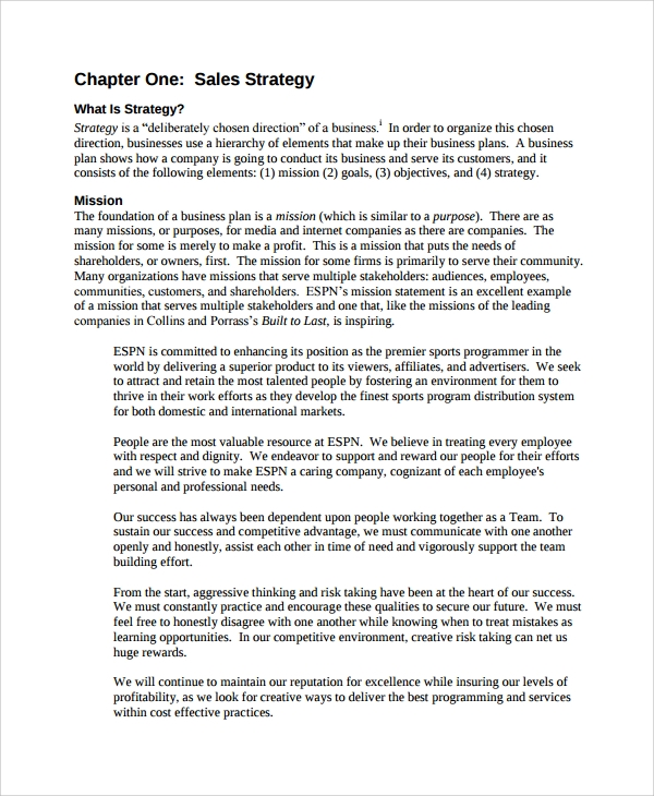 strategy sales template