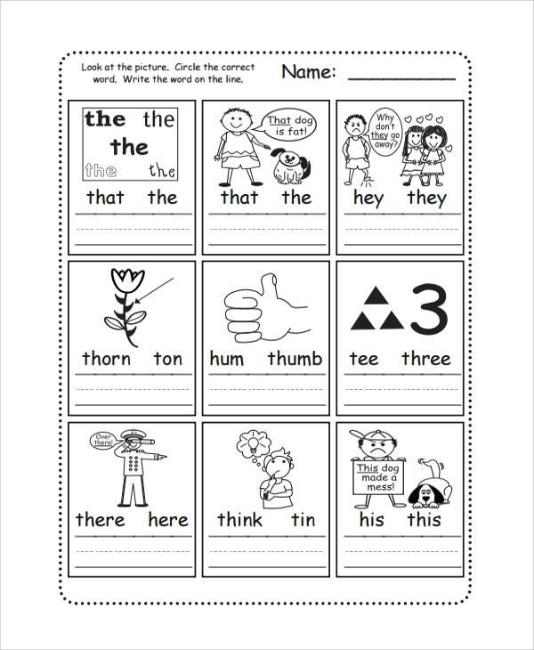 Number Names Worksheets fun phonics worksheets : Sample Phonics Worksheet - 7+ Documents in PDF