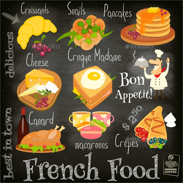 10 French Menu Templates PSD Vector EPS – Sample Cafe Menu Template