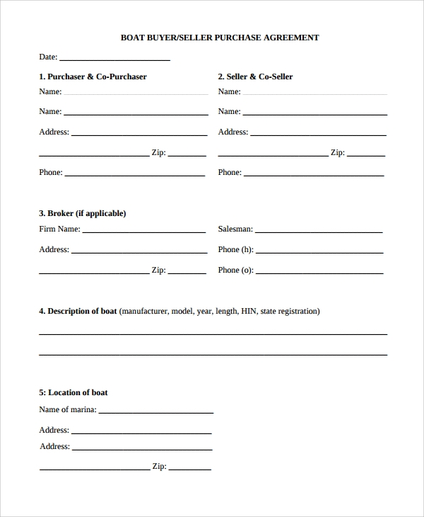 Sample Purchase Agreement   Documents In Word Pdf