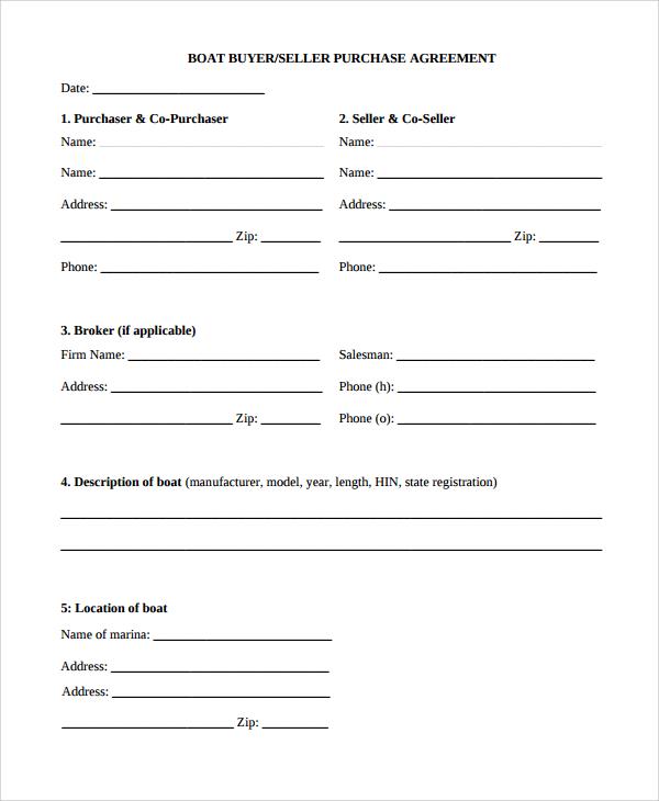 Simple Agreement Radioliriodosvalesonlinetk - Boat purchase agreement template