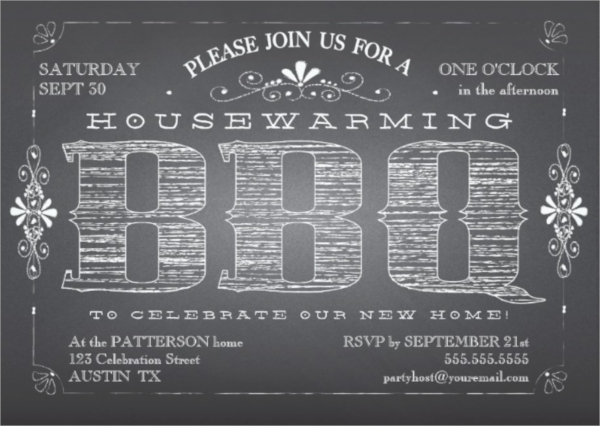 housewarming bbq invitation template