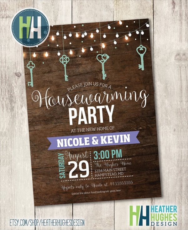 colorful housewarming invitation