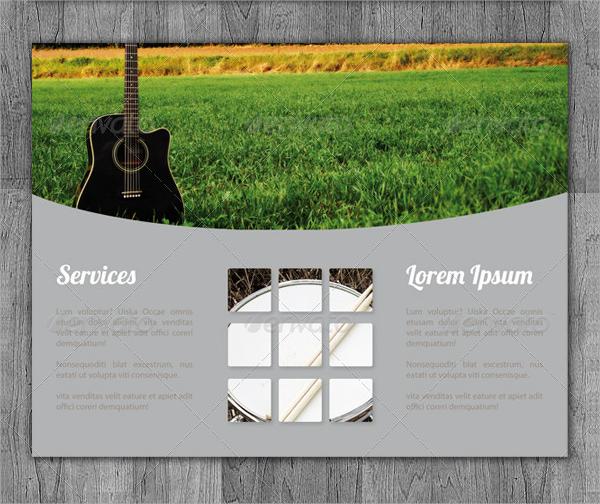 tri fold music brochure template