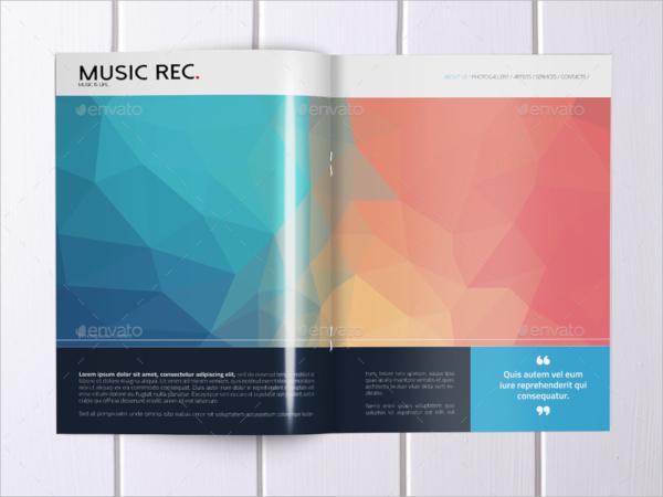 bi fold music brochure