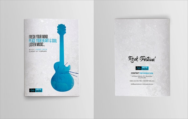 photoshop music brochure