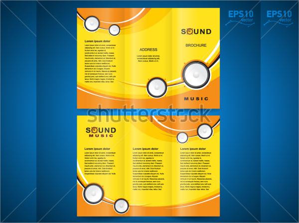 vector music brochure