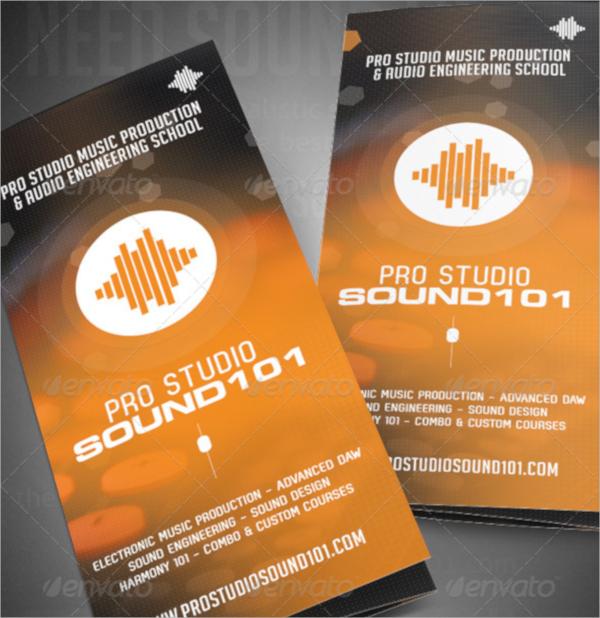 music studio tri fold brochure