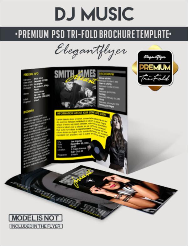 dj music brochure