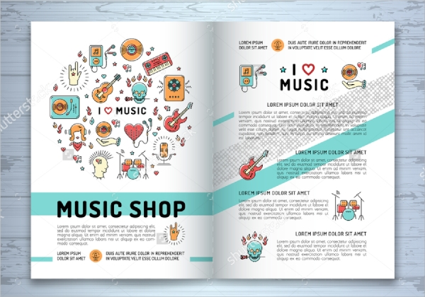 a4 music brochure