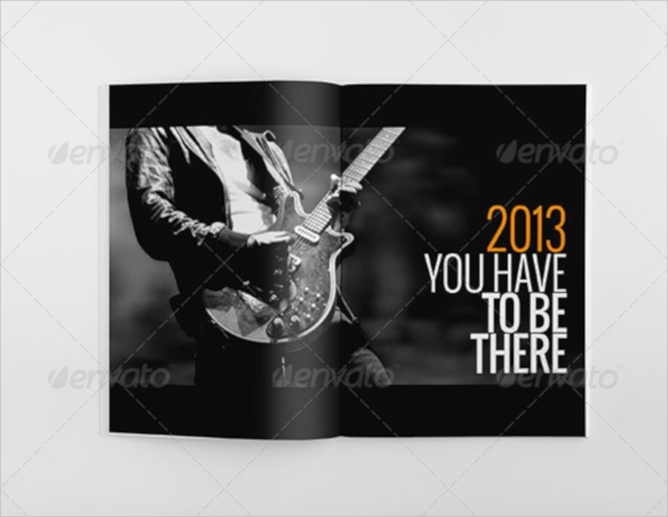 music event brochure