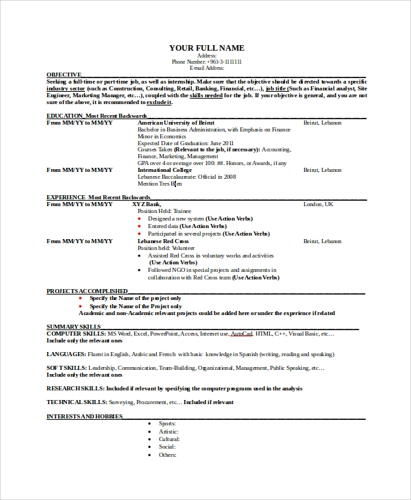sample resume 24 documents in pdf word