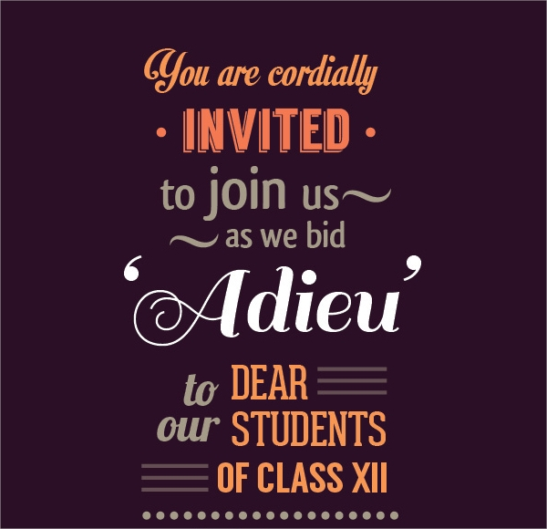farewell party invitation template psd vector eps