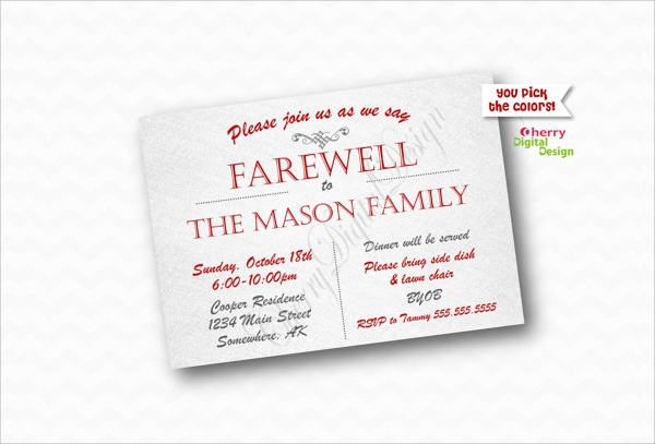 fare well party invitation template