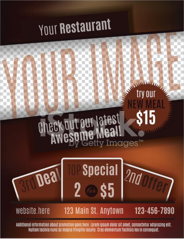 restaurant coupon flyer template