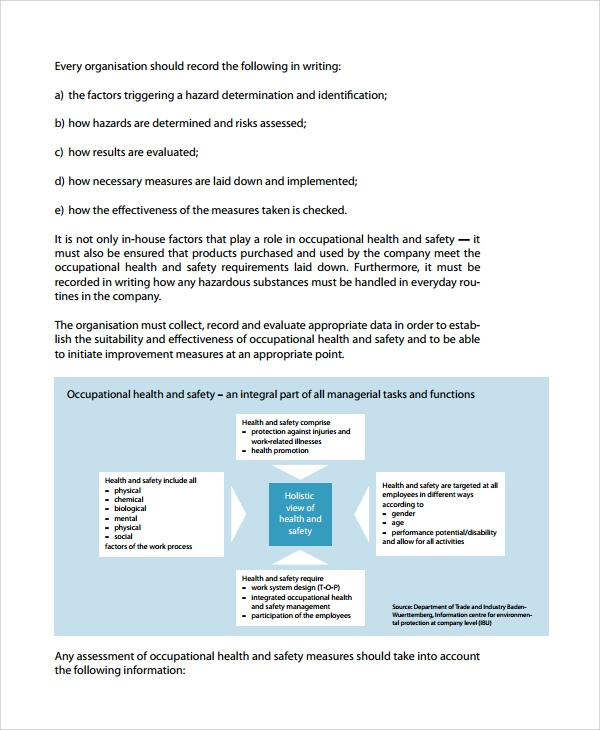 Sample Health & Safety Risk Assessment - 7+ Documents In Word, Pdf