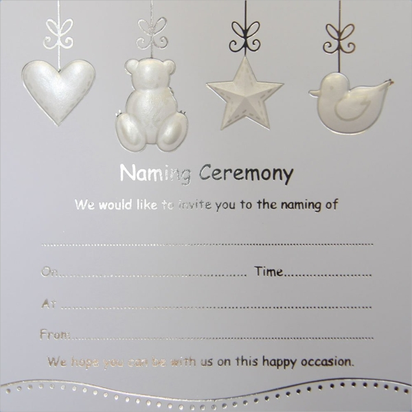 cute little baby naming invitation