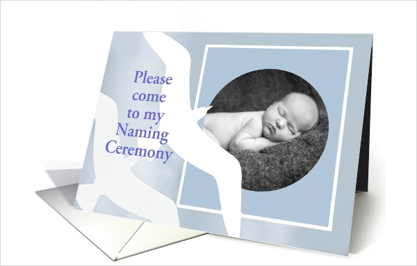 beautiful naming ceremony invitation