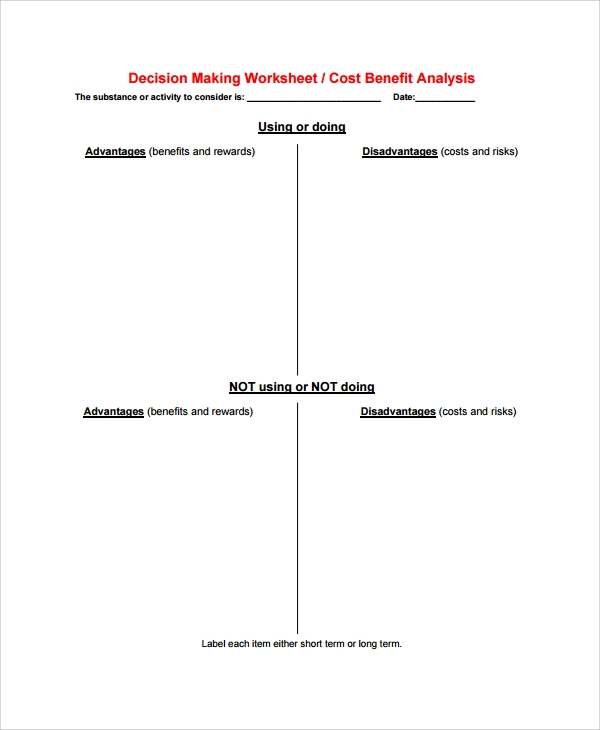 Sample Cost Benefit Analysis   Documents In Pdf Word