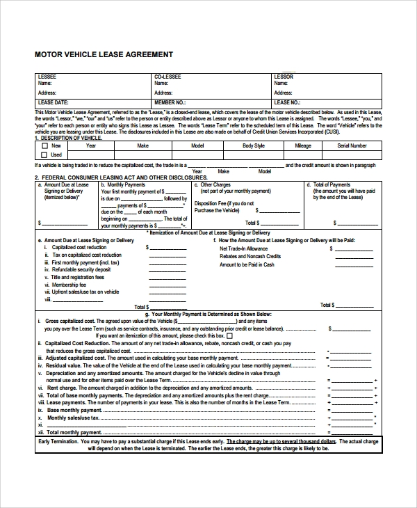 Sample Commercial Lease Agreement   Documents In Word