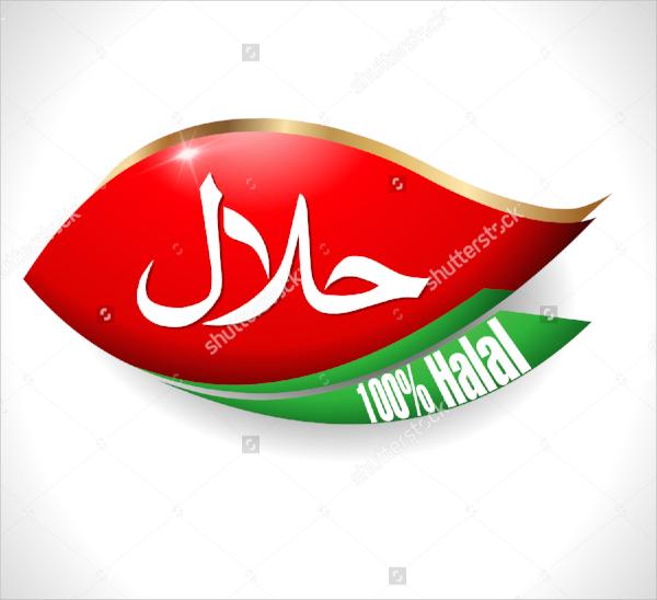 halal food product label
