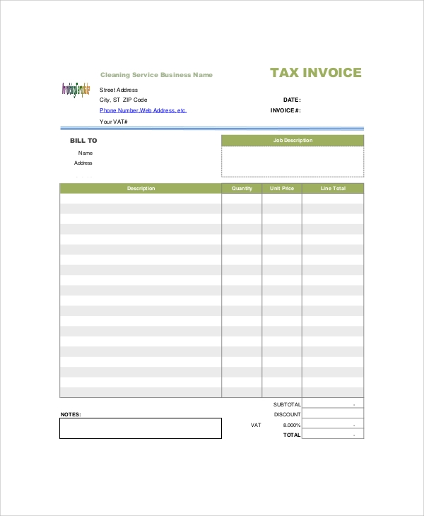 7+ Sample Service Invoice Templates | Sample Templates