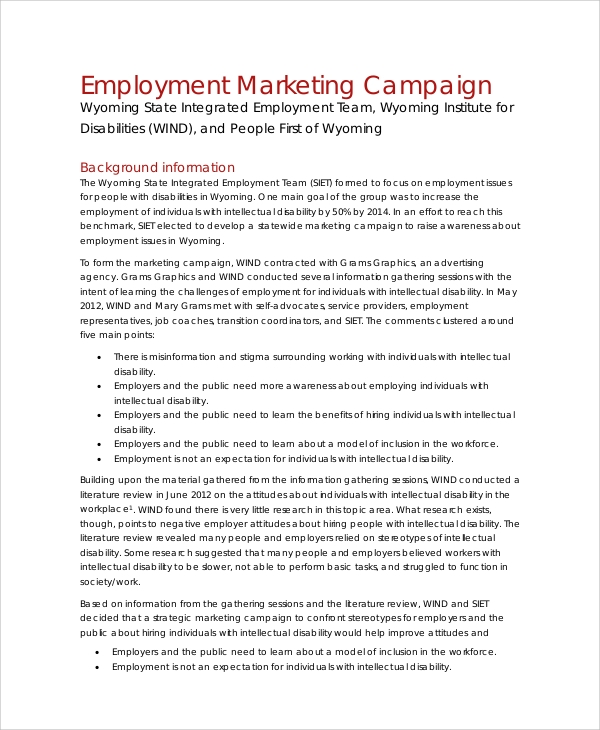 employment marketing campaign