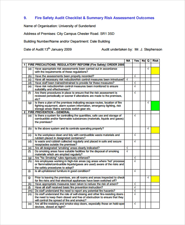 7 sample risk assessment report templates sample templates for Risk assessment security survey template