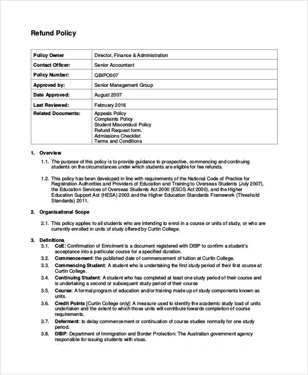 Haccp decision tree u0026 sample template 27 blank chart for Returns policy template