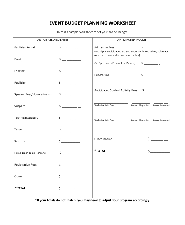 Sample Event Proposal   Documents In Word Pdf