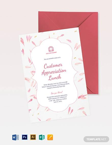 19 Lunch Invitations Psd Vector Eps