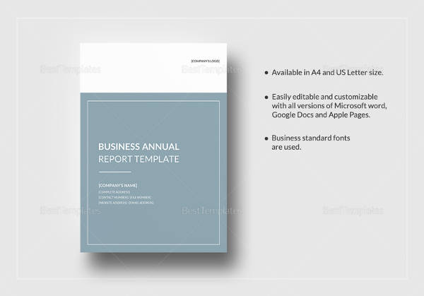 16 annual report samples sample templates business annual report template in pages for mac accmission Image collections