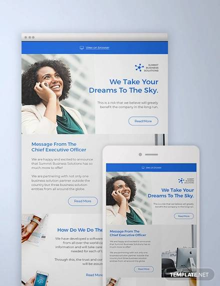business solutions consultant newsletter template