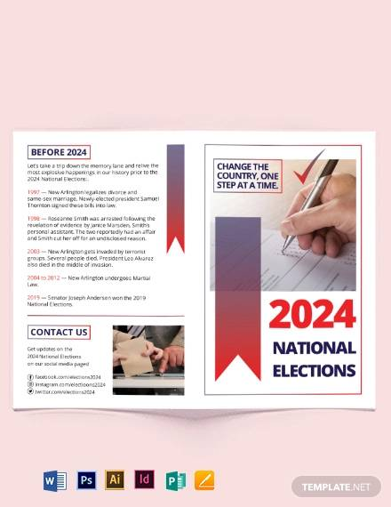 election bi fold brochure template