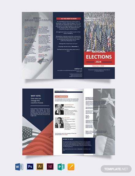 election campaign tri fold brochure template