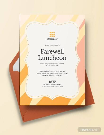 farewell luncheon