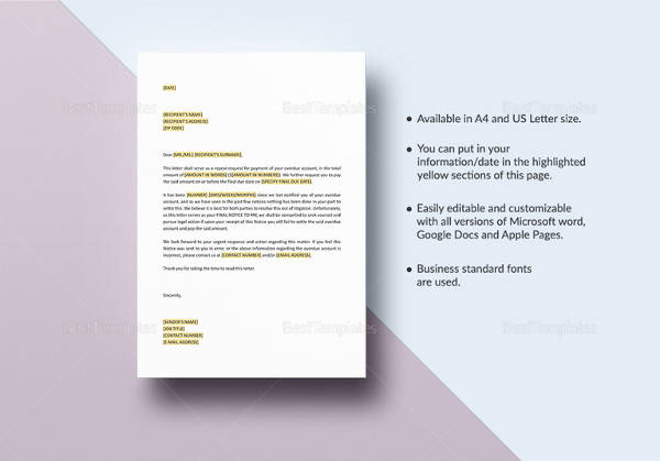 final notice before legal action template