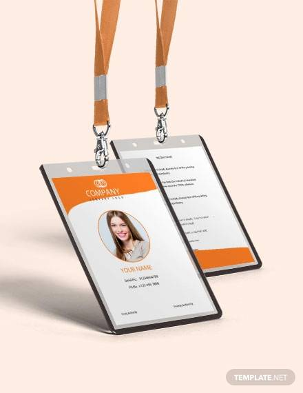 free professional id card template