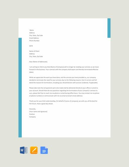 free 9 sample service termination letter templates in pdf. Black Bedroom Furniture Sets. Home Design Ideas