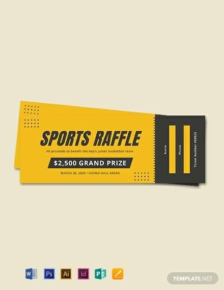 free sports raffle ticket template
