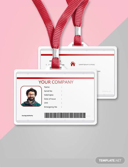 free vertical blank id card template