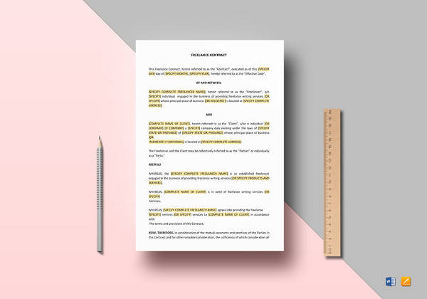 freelance contract template in doc