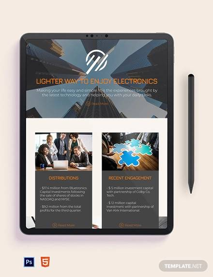 investment company newsletter template