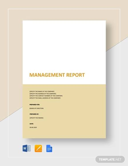 management report to board